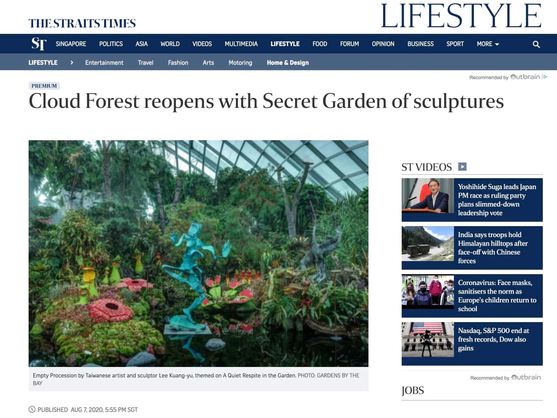 Cloud Forest reopens with Secret Garden of sculptures